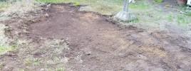 庭の層をはがす
