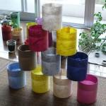 多色ある和紙プランター