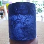和紙プランター青色